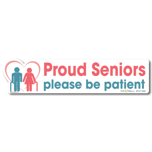 Proud Seniors Decal | Studio4Signs|New Driver Decals